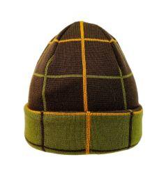 Шапка Artel Плед, цвет: зеленый/коричневый