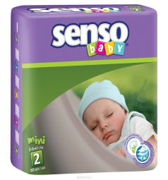 Подгузники Senso Baby (3-6 кг) 80 шт.