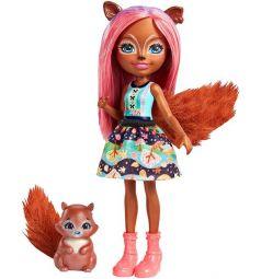 Кукла Enchantimals Санча Белка и Топотун 15 см