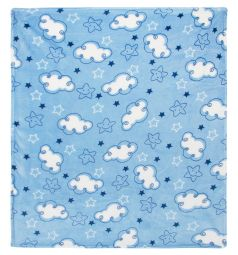 Funecotex Плед Облачка 100 х 118 см, цвет: голубой