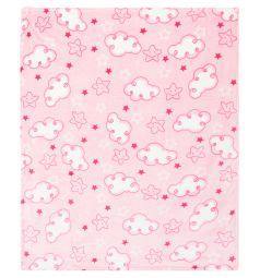 Funecotex Плед Облачка 100 х 118 см, цвет: розовый