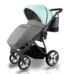 Прогулочная коляска Bexa Poland iX, цвет: голубой/серый
