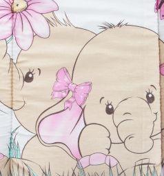 Leader Kids Комплект в коляску Два слоника матрас/подушка, цвет: розовый