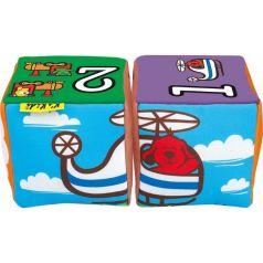 Мягкие кубики K's Kids Совмести-ка музыкальные Транспорт