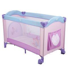 Манеж-кровать Capella Sweet Time Hearts, цвет: розовый/фиолетовый