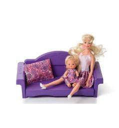 Мебель для куклы Огонек Диван раскладной Конфетти