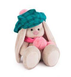Мягкая игрушка Зайка Ми ЗайкаМи в зеленой кепке и розовом шарфе 23 см