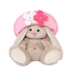 Мягкая игрушка Зайка Ми ЗайкаМи малыш в панамке с цветами 15 см