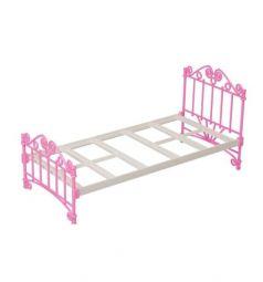 Мебель для куклы Огонек Кроватка розовая без п/п