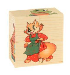 Кубики Русские деревянные игрушки Теремок