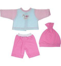 Одежда для кукол Mary Poppins Зайка кофточка брючки и шапочка Зайка 38-43 см