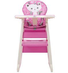 Стульчик для кормления Polini 460, цвет: розовый