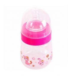Бутылочка Бусинка Зверушки полипропилен с рождения, 250 мл, цвет: розовый
