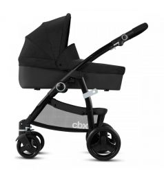 Коляска 2 в 1 Cybex Leotie Pure, цвет: smoky anthracite