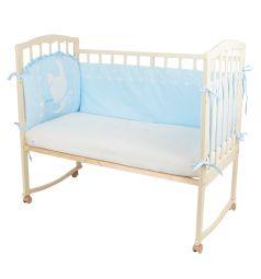 Бортик в кроватку Leader Kids Зайка с тортиком, цвет: голубой