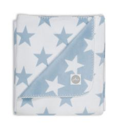 Jollein Плед Stars 75 х 100 см, цвет: голубой