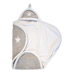 Jollein Конверт-одеяло Stars 100 х 105 см, цвет: бежевый