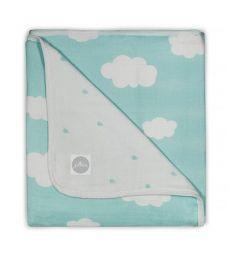 Jollein Одеяло Clouds 75 х 100 см, цвет: зеленый