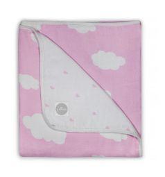 Jollein Одеяло Clouds 120 х 120 см, цвет: розовый