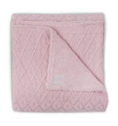Jollein Плед Diamond 75 х 100 см, цвет: розовый