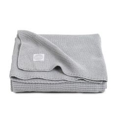 Jollein Плед Basic knit 75 х 100 см, цвет: серый