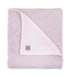 Jollein Плед Confetti knit 75 х 100 см, цвет: розовый
