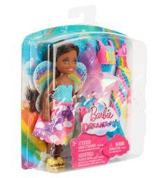 Кукла Barbie Челси Фея-русалка Брюнетка, голубой топ, розовая юбка