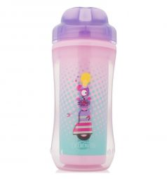 Чашка-термос без носика Dr.Brown's Фиолетовый робот, цвет: фиолетовый