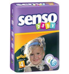 Подгузники Senso Baby Maxi (7-18 кг) 19 шт.