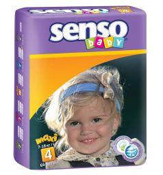 Подгузники Senso Baby Maxi (7-18 кг) 66 шт.
