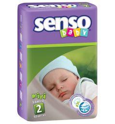 Подгузники Senso Baby Mini (3-6 кг) 52 шт.