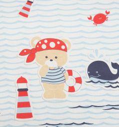Подушка Зайка Моя Мишка на море 40 х 60 см, цвет: голубой