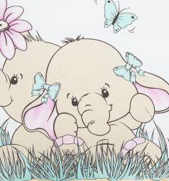 Зайка Моя Подушка Два слоника 40 х 60 см, цвет: бирюзовый