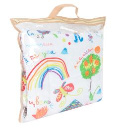 Leader Kids Комплект в коляску Каляки-маляки 2 предмета подушка, цвет: белый