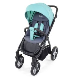 Прогулочная коляска Nuovita Modo Terreno, цвет: бирюзовый/серый