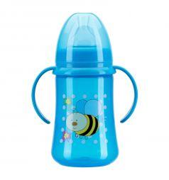 Бутылочка Курносики полипропилен с рождения, 125 мл, цвет: синий