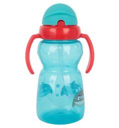 Поильник Ням-Ням с силиконовой трубочкой, с 6 месяцев, цвет: голубой