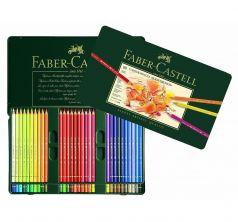 Карандаши цветные Faber-Castell Polychromos набор цветов в металлической коробке 60 шт.