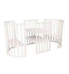 Кровать Папа Карло 8 в 1, цвет: белый