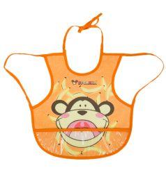 Нагрудник Бусинка на завязках с карманом, цвет: оранжевый