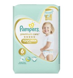 Трусики Pampers Premium Care Pants 6 размер (15+ кг) 18 шт.