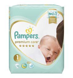 Подгузники Pampers Premium Care Pants 1 размер (2-5 кг) 72 шт.