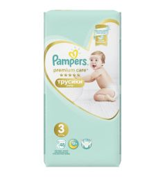 Трусики Pampers Premium Care Pants 3 размер (6-11 кг) 48 шт.