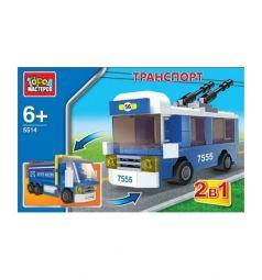 Конструктор Город мастеров Транспорт 2 в 1 троллейбус и грузовик
