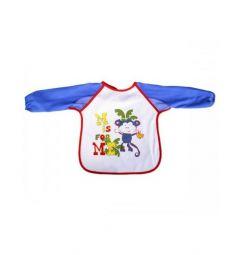 Слюнявчик Бусинка С рукавами, цвет: синий