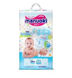 Подгузники Manuoki ультратонкие (6-11 кг) 56 шт.
