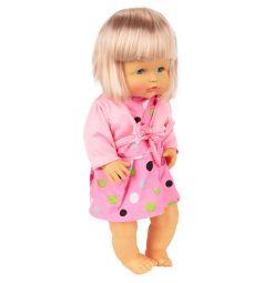Кукла Tongde Радочка в розовом платье в горошек 39 см