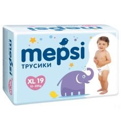 Трусики-подгузники Mepsi (12-22 кг) 19 шт.