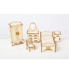 Набор мебели для кукол Большой Слон Волшебный 3D город Спальня 21.5 см