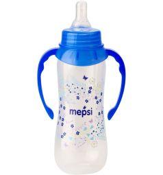 Бутылочка Mepsi С ручками полипропилен с 4 месяцев, 250 мл, цвет: голубой